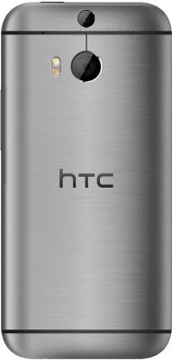 Смартфон HTC One Dual / M8 (серый металлик) - вид сзади