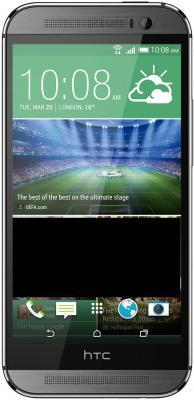Смартфон HTC One Dual / M8 (серый металлик) - общий вид