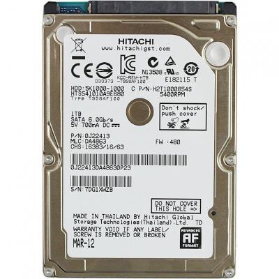 Жесткий диск Hitachi Travelstar 5K1000 1TB (HTS541010A9E680) - общий вид