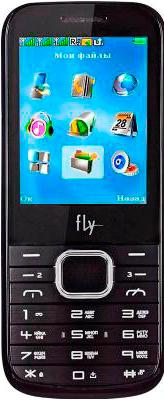 Мобильный телефон Fly TS107 (Black) - вид спереди