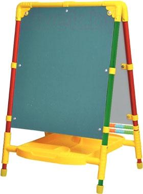 Мольберт детский двусторонний Ника Растущий M2 (Голубой) - меловая доска на примере модели другого цвета