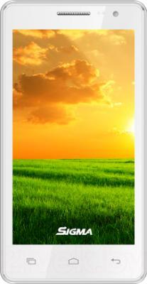Смартфон Keneksi Sigma (белый) - вид спереди