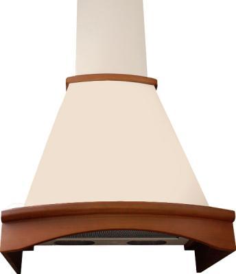 Вытяжка купольная Elikor Ротонда 60 (бежевый/бук) - общий вид