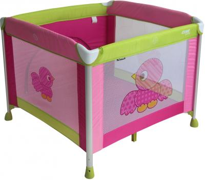 Кровать-манеж Lorelli Game Zone (Birds Pink) - общий вид