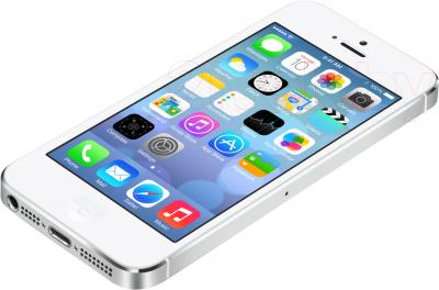 Смартфон Apple iPhone 5s (64Gb, белый) - вид лежа