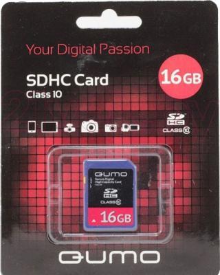 Карта памяти Qumo SDHC (Class 10) 16GB (QM16GSDHC10) - общий вид
