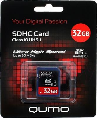 Карта памяти Qumo SDHC UHS-I (Class 10) 32GB (QM32GSDHC10U1) - общий вид