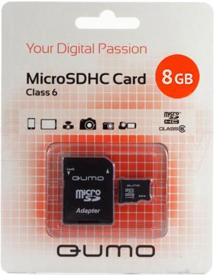 Карта памяти Qumo microSDHC (Class 6) 8GB (QM8GMICSDHC6) - общий вид