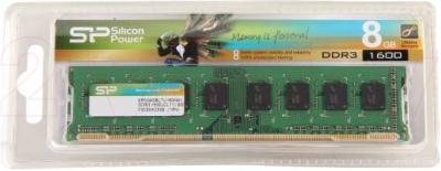 Оперативная память DDR3 Silicon Power 8GB DDR3 PC3-12800 (SP008GBLTU160N01/2) - общий вид