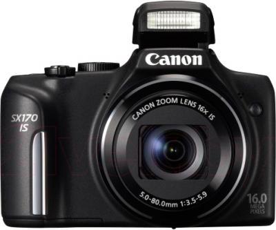 Компактный фотоаппарат Canon PowerShot SX170 IS Travel Kit (Black) - общий вид
