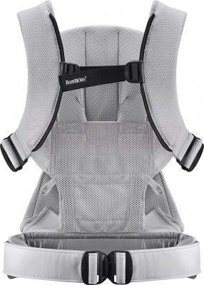 Эрго-рюкзак BabyBjorn One Mesh 0910.04 (серебристый) - вид сзади