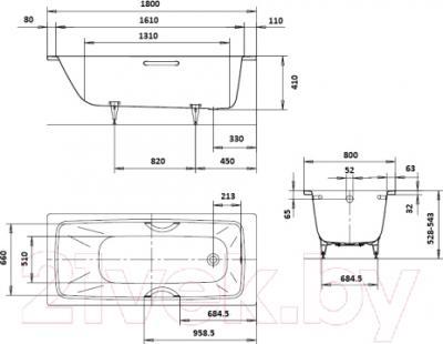 Ванна стальная Kaldewei Cayono 751 180x80