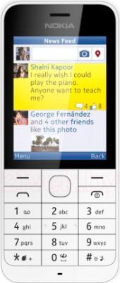 Мобильный телефон Nokia 220 Dual (белый) - вид спереди