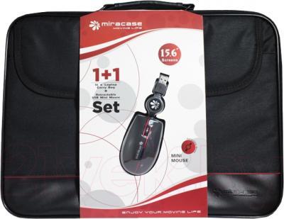 Сумка для ноутбука Miracase PTNH1001set (+мышь) - общий вид