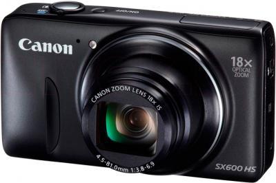 Компактный фотоаппарат Canon PowerShot SX600 HS (черный) - общий вид