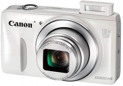 Компактный фотоаппарат Canon PowerShot SX600 HS (White) - общий вид
