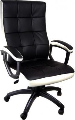 Кресло офисное Деловая обстановка Клия MFM (бело-черный) - общий вид