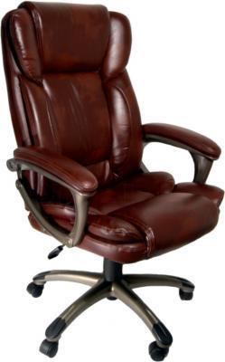 Кресло офисное Деловая обстановка Лагуна Люкс MFM (коричневый) - общий вид