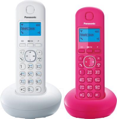 Беспроводной телефон Panasonic KX-TGB212 (белый/розовый) - общий вид