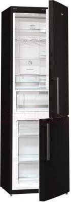 Холодильник с морозильником Gorenje NRK6192JBK - общий вид