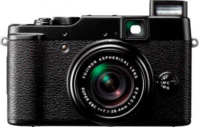 Компактный фотоаппарат Fujifilm FinePix X-10 (черный) - вид спереди