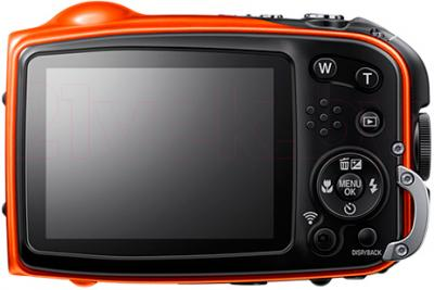 Компактный фотоаппарат Fujifilm FinePix XP70 (Orange) - вид сзади