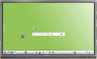 Интерактивная панель Prestigio MultiBoard PMB554H658 (Black) - вид спереди