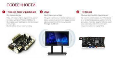 Интерактивная панель Prestigio MultiBoard PMB554H848 (Black) - особенности