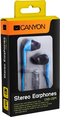 Наушники-гарнитура Canyon CNS-CEP1BL - в упаковке