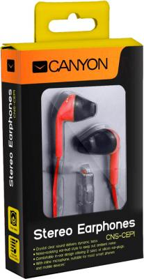 Наушники-гарнитура Canyon CNS-CEP1R - в упаковке