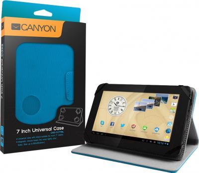 Чехол для планшета Canyon CNS-CUT7BL - упаковка и пример использования