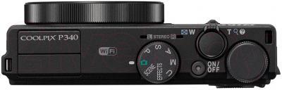 Компактный фотоаппарат Nikon Coolpix P340 (Black) - вид сверху