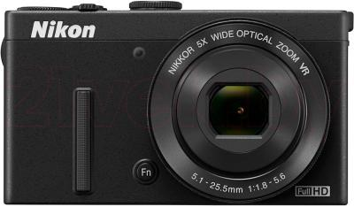 Компактный фотоаппарат Nikon Coolpix P340 (Black) - вид спереди