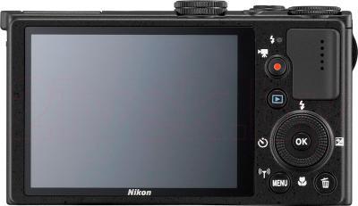 Компактный фотоаппарат Nikon Coolpix P340 (Black) - вид сзади