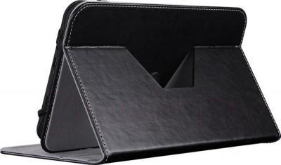 """Чехол для планшета Prestigio Universal rotating Tablet case for 10.1"""" Black (PTCL0210BK) - в сложенном виде"""