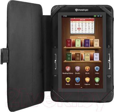 """Чехол для планшета Prestigio Universal 7"""" PTCL0107A_BK (черный) - с планшетом"""