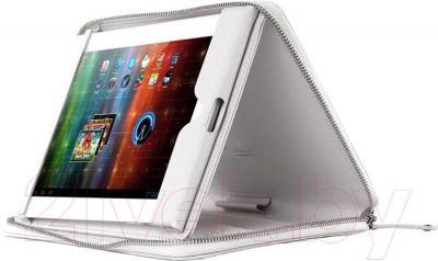 """Чехол для планшета Prestigio Universal 8"""" PTCL0108WH (белый) - пример использования"""