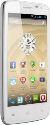 Смартфон Prestigio MultiPhone 3501 Duo (белый) - общий вид