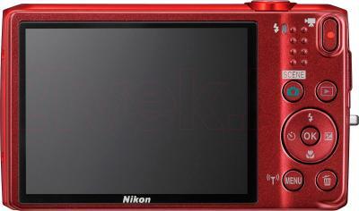 Компактный фотоаппарат Nikon Coolpix S6800 (Red) - вид сзади