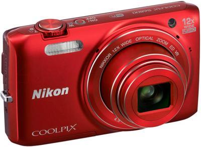 Компактный фотоаппарат Nikon Coolpix S6800 (Red) - общий вид