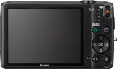 Компактный фотоаппарат Nikon Coolpix S6800 (Black) - вид сзади