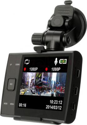 Автомобильный видеорегистратор IconBIT DVR QX DUO - дисплей