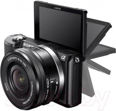 Беззеркальный фотоаппарат Sony ILCE-5000Y - поворотный экран