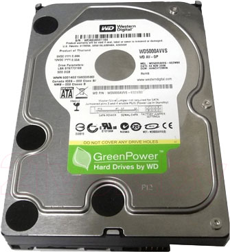 Жесткий диск Western Digital AV-GP 500GB (WD5000AVCS) - общий вид