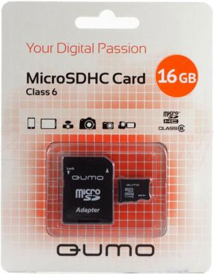 Карта памяти Qumo microSDHC (Class 6) 16GB (QM16GMICSDHC6) - общий вид