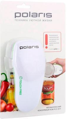 Консервный нож электрический Polaris PCO 3011 (бело-зеленый) - в упаковке