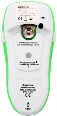 Консервный нож электрический Polaris PCO 3011 (бело-зеленый) - вид снизу