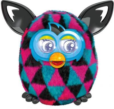 """Интерактивная игрушка Hasbro """"Furby Boom"""" Солнечная волна (розово-черно-синяя) - общий вид"""