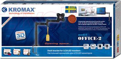 Кронштейн для телевизора Kromax Office-2 (темно-серый) - упаковка