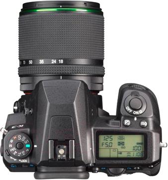 Зеркальный фотоаппарат Pentax K-3 Kit DA 18-135mm WR (черный) - вид сверху